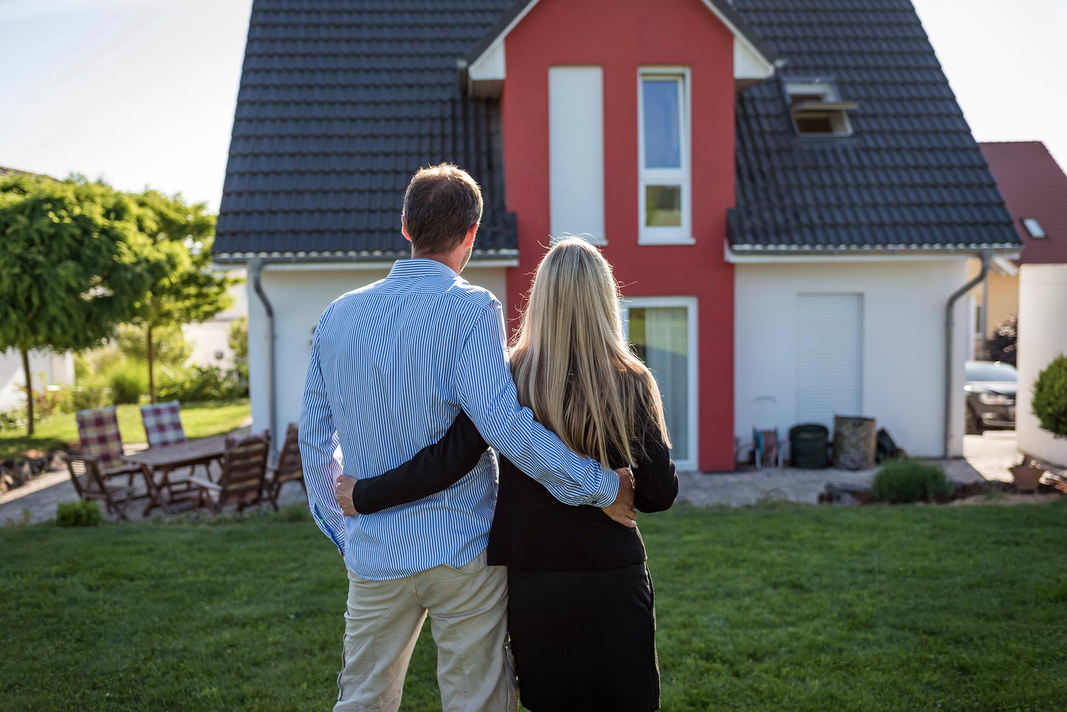 beim Kauf eines Hauses